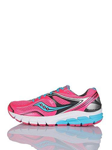 Saucony Womens Lancer Running Shoe, Hot Pink/Black/Light Blue, 42 B(M) EU/8 B(M) UK