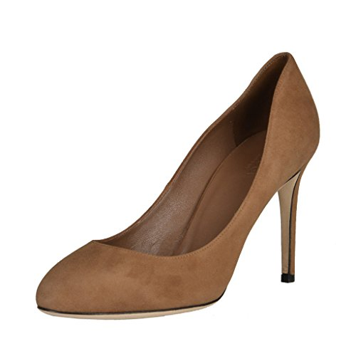 Gucci Women's Brown Suede Classic Pumps High Heel Shoes US 9 IT 39;