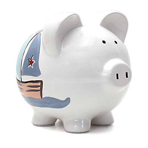 Child to Cherish Ceramic Piggy Bank for Boys, Nautical