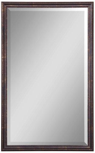 Uttermost Renzo Vanity Mirror 1.75 x 20.125 x 32.125, Bronze Leaf, 32.1 L x 20.1 W x 1.8 D,