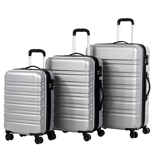 Murtisol 3 Pieces Expandable ABS Luggage Sets TSA Lightweight Durable Spinner Suitcase 20