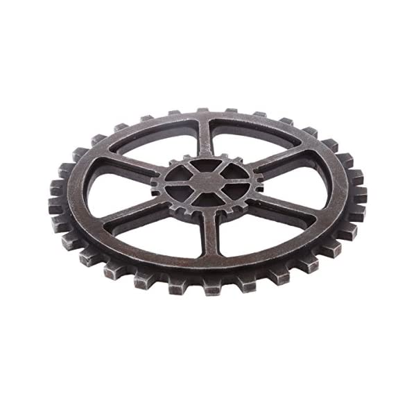 WINOMO 24cm Vintage Steampunk Gear Wheel Home Bar Art Craft Wall Decoration Hexagon Decor 4