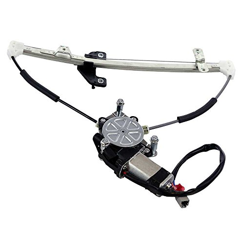 MILLION PARTS Rear Left Side Power Window Regulator with Motor for 2001 2002 2003 2004 2005 Honda Civic Sedan 4-Door