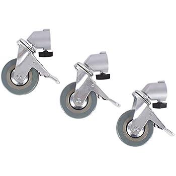 Fovitec StudioPRO Professional Swivel Caster Wheel Set of 3 for Light Stands