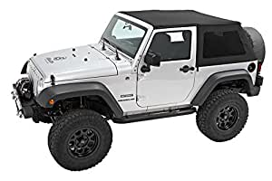 Bestop 56922-17 Black Twill TrekTop NX Complete Frameless Replacement Soft Top with Sunrider Sunroof Feature