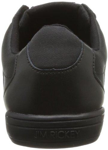 Rickey Stealth Leather Sneaker Uomo Black schwarz Noir Nero Mesh full Jim 7Zqd7