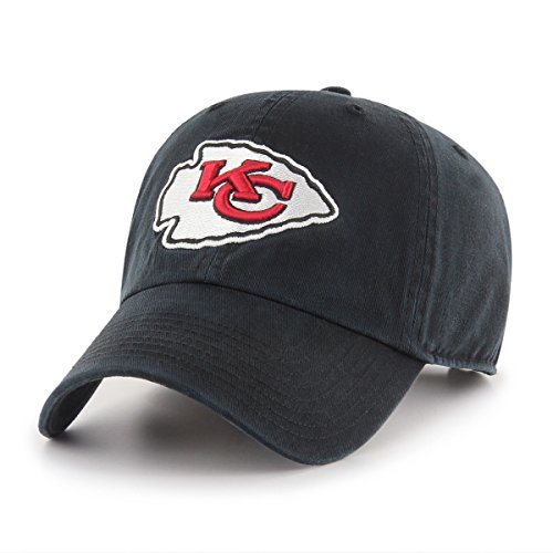 NFL Kansas City Chiefs Male OTS Challenger Adjustable Hat, Black, One Size