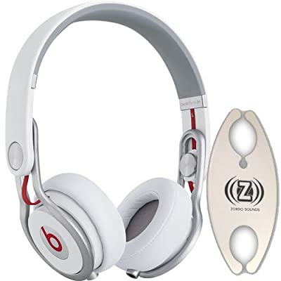 Beats by Dr. Dre Mixr White DJ Headphones Carry Pack with Wire Holder