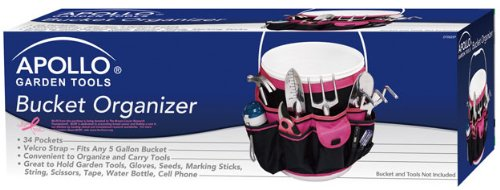 Apollo Tools DT0825P Garden Tool Organizer, Black/Pink, Donation Made to Breast Cancer Research