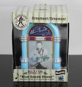 Elvis Presley Musical Ornament(Juke box)Blue Suede Shoes