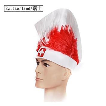 Shi18sport 2018 Recuerdos de los fanáticos Nuevos Sombreros De Copa Mundial  De Fútbol De Cockscomb Tapa Wig Divertidos Juegos Creativos Hat 640704a9039