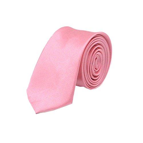 Korean Tie (RUOYUCL Men's Solid Color Retro Skinny Necktie 2