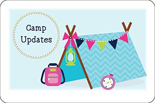 Camper Girl Camp Postcards | Kid Postcards | Camp Stationery | 6