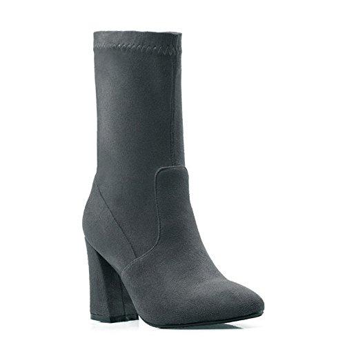Balamasaabl09792 - Sandales Compensées Pour Femmes, Gris (gris), 35 Eu