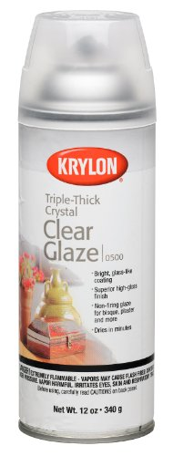 Krylon I00500A00 12-Ounce Triple Thick Clear Glaze Aerosol Spray Crystal Clear Glaze