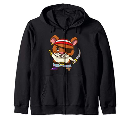 Guinea Pig Pirate Costume (Pirate Hamster Halloween Party Kids Shirt Jolly Roger  Zip)