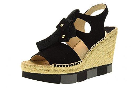 PALOMA BARCELO' Chaussures sandales femmes avec coin BUCM SUK1 Black