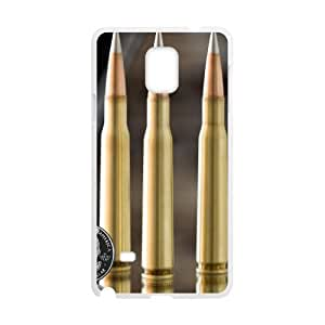 Sexyass Bullet Samsung Galaxy Note 4 Cases Antislip Bullet 02, Bullet Samsung Galaxy Note 4 Case For Girl [White]