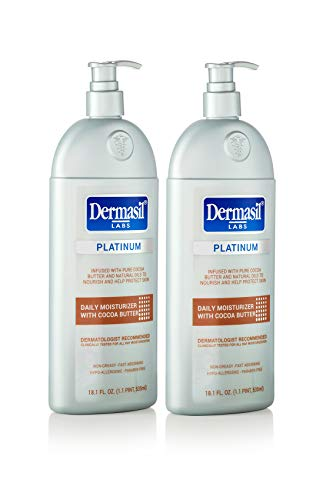 Softening Body Care (Newest & Most Advanced Dermasil Cocoa Butter All Day Body Moisturizer for Softening and Smoothing Very Dry Skin, by Dermasil Labs - DERMATOLOGISTS' CHOICE – Platinum Level (2 Pack))