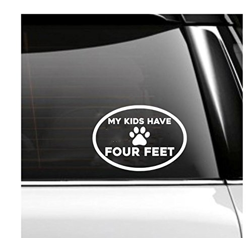 My Kids Have Four Feet Car Decal- Pets Oval