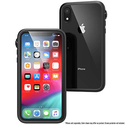 iPhone XR Case Impact Protection by Catalyst, Military Grade Drop and Shock Proof Premium Material Quality, Slim Design, Stealth Black