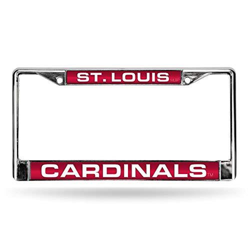 (Rico St Louis Cardinals MLB Chrome Metal Laser Cut License Plate Frame)