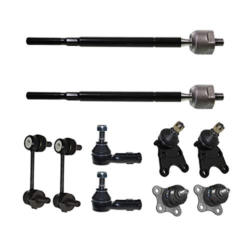 Detroit Axle - 10PC Front Upper Lower Ball Joint, Sway Bar, Inner and Outer Tie Rod Kit for 98-02 Honda Passport - [98-00 Isuzu Amigo] - 02-04 Axiom - [98-04 Rodeo] - 01-03 Rodeo Sport