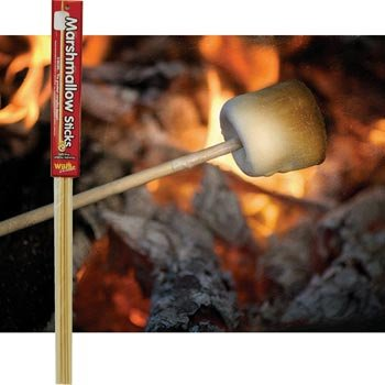 Wooden Marshmallow Sticks 32-inch (100% Biodegradable) 20-pc Set - Excursion Set