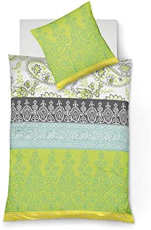 135 x 200 cm Fleuresse Mako-Satin-Bettw/äsche mit praktischem Rundumgummi sommerliche Blumenwiese 100/% Baumwolle bunt /& Jenny C klassisches Jersey-Spannlaken