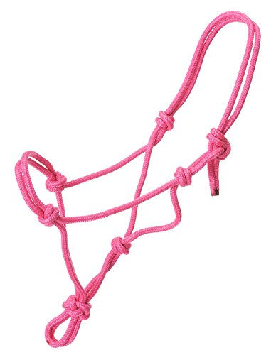 Tough 1 Miniature Poly Rope Tied Halter, Pink, Small ()