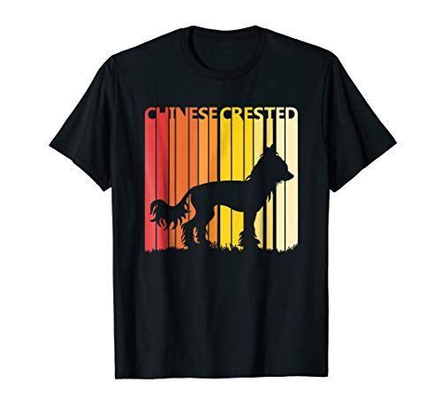 Retro Chinese Crested Dog T-shirt Merry Christmas Gift
