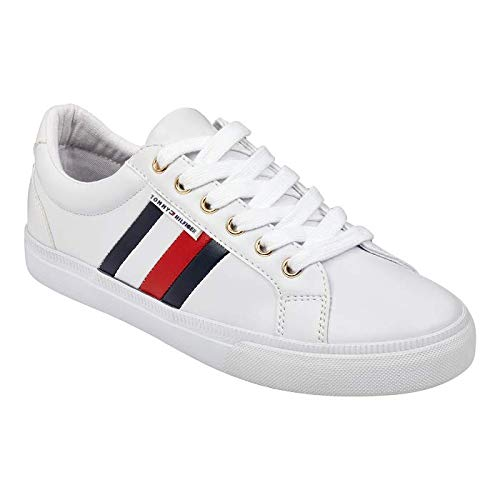 Tommy Hilfiger Women's Lightz Sneaker, White, 8.5 Medium US from Tommy Hilfiger