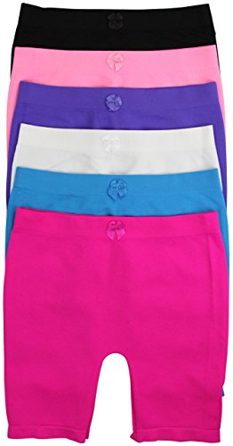 ToBeInStyle Girl's Pack of 6 Long Boyshorts (Large, SLBG184L) by ToBeInStyle
