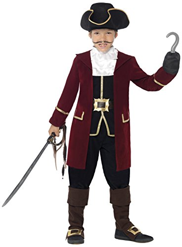 Smiffy's Children's Pirate Captain Costume (Captain Hook Adult Costume)