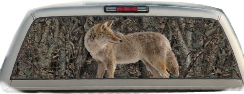 Camo- Coyote- 22 Inches-by-65 Inches- Rear Window Graphics (Rear Window Fishing Graphics compare prices)