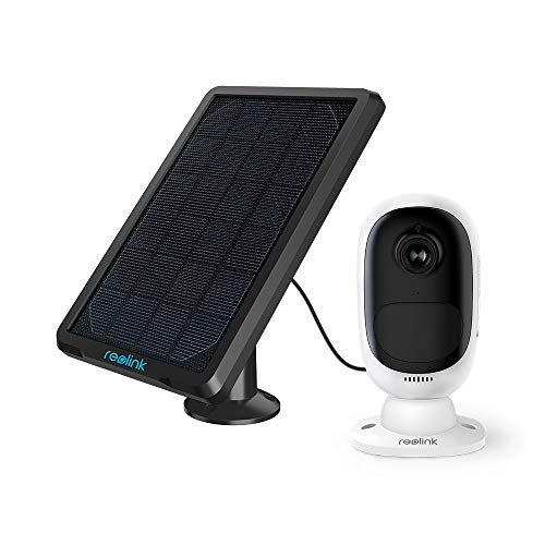 Reolink Argus 2+Solar Panel | Wireless Rechargeable Battery-Powered Solar Security Camera for Outdoor Home Surveillance, 1080p HD 2-Way Audio Starlight Night Vision with PIR Motion Sensor SD Card Slot