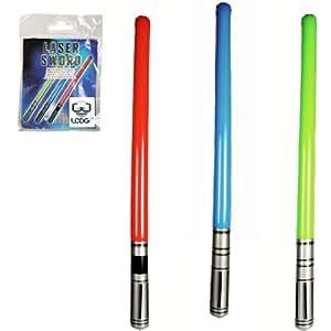 2 espadas láser inflables - verde, azul o rojo
