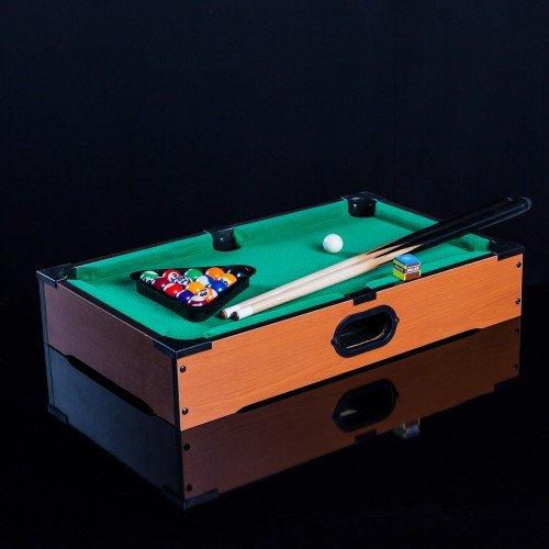 Mini Billardtisch aus Holz 51x31x10 cm Tischbillard Mini Billard Tisch Spieltisch komplett mit Zubehör