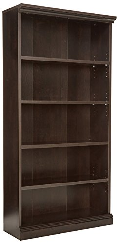 Sauder Library Bookcase, Estate Black (Sauder Library Bookcase)