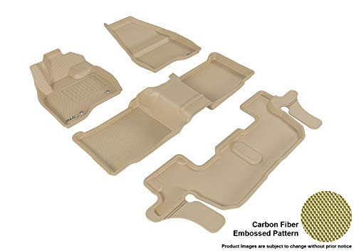 3D MAXpider All-Weather Floor Mats for Ford Explorer (2nd Row Bench Seat) 2015-2016 Custom Fit Car Floor Liners, Kagu…
