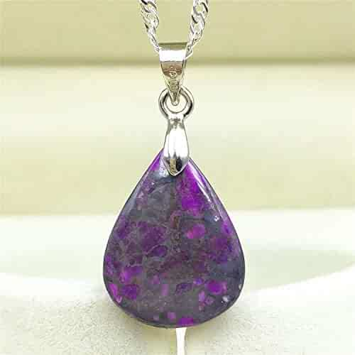 DUOVEKT Top Natural Royal Purple Sugilite Pendant for Woman Man Crystal 19x11x5mm Beads South Africa Anticancer Stone