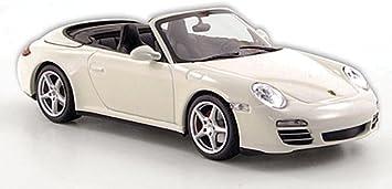 Porsche 911 Carrera 4s Cabriolet 997 Ii Weiss 2008 Model Car Ready Made Minichamps 1 43 Spielzeug