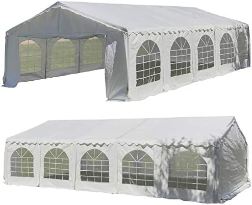 32'x16' Budget PE Party Tent Canopy Shelter White