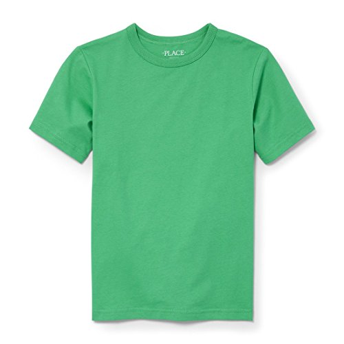 The Children's Place Big Boys' Short Sleeve Active T-Shirt, Midwest Plains 2442, S - Plain T-shirt Value