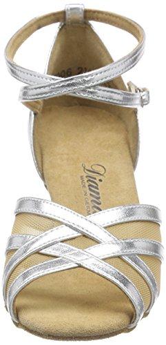 Diamante Latino 035-087-013 Scarpe Da Ballo Da Donna - Argento Standard E Latino (argento)