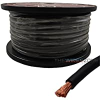 4 AWG Gauge 125ft 100% Copper Flexible Power Ground Wire Cable True Spec Black