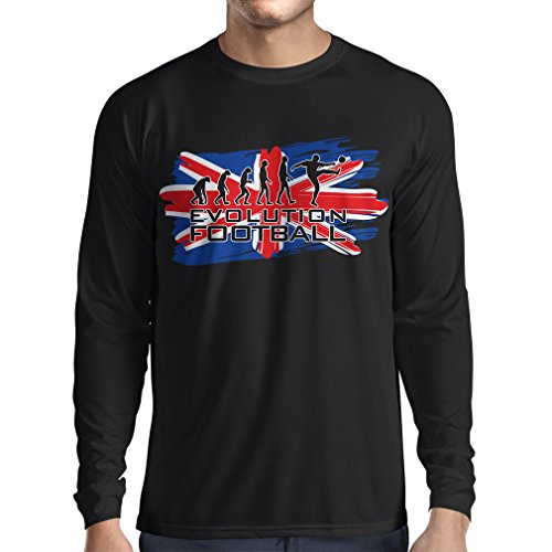 fan products of N4450L Long Sleeve t Shirt Men Evolution Football (Large Black Multi Color)