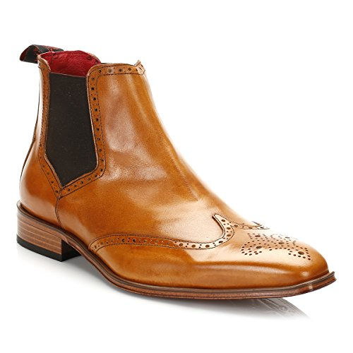 Jeffery West Hommes Tequila Honey Brogue Chelsea Bottes