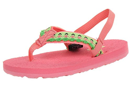 Teva Kids' Hula Girls Flip Flop,Hula Girl Tropical Pink,4-5