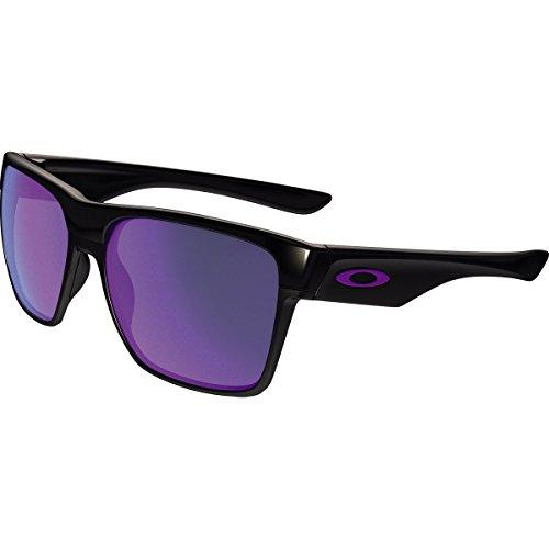 Oakley Men's Two Face Xl Polarized Iridium Square Sunglasses, Polished Black w/Violet Iridium, 59 - 2 Sunglasses 1 Oakley 4